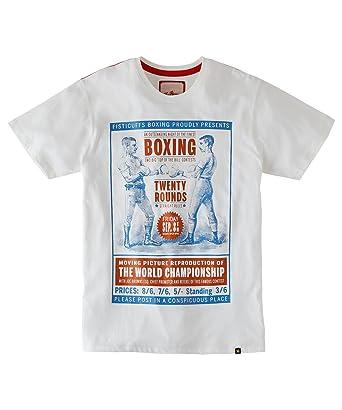 Joe Browns - T-Shirt à Manches Courtes avec imprimé Boxe - Homme - Ecru e408242274c1