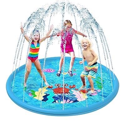 "Sprinkler for Kids, Vatos Toddler Splash Play Mat, 67"" Outdoor Inflatable Water Play Sprinkler Pad for Babies Summer Spray Water Toys Kiddie Pool for BoysandGirls Age 2 3 4 5+ Year Old : Baby"