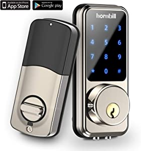 [2020 Newest] Smart Lock Keyless Entry Deadbolt Door Locks, Digital Electronic Bluetooth Deadbolt Door Lock with Keypad, Smart Locks Front Door Work with APP, Code and eKey Auto Lock for Homes Hotels