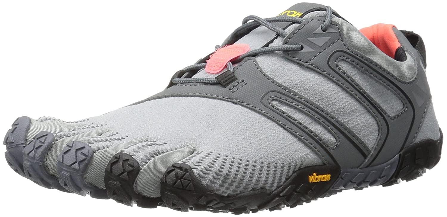 Vibram Women's V Trail Runner B01H8PSO5M 37 M EU / 6.5 B(M) US|Grey/Black/Orange