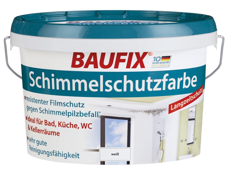 Baufix Protection Antimoisissures Couleur Blanc Mat Satiné L - Peinture anti moisissure pour salle de bain
