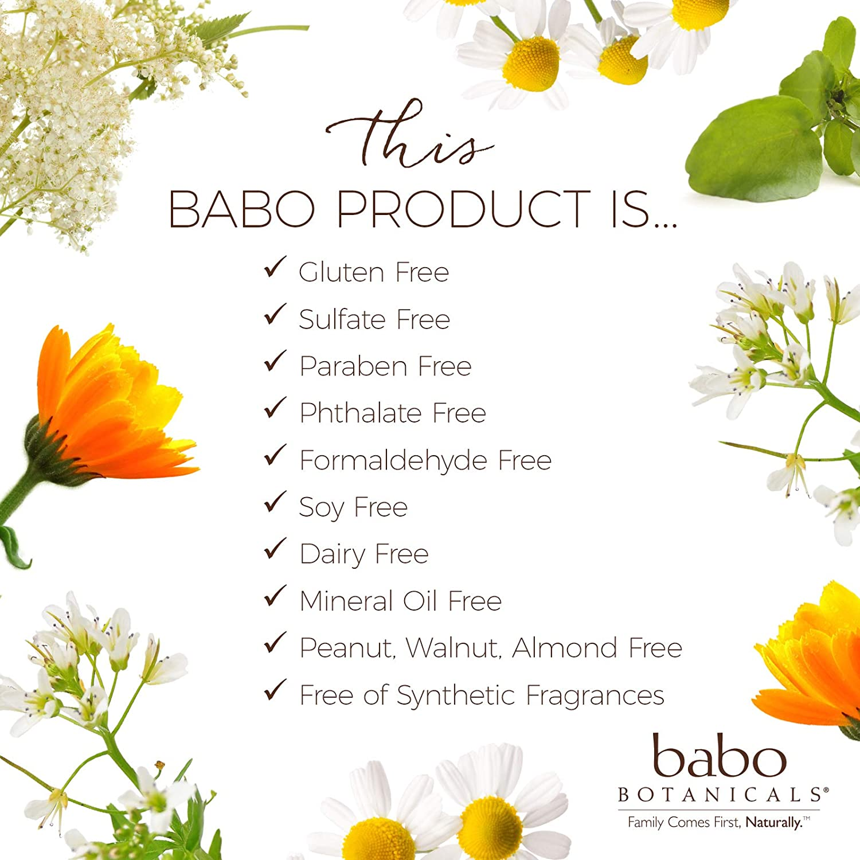 Babo Botanicals Moisturizing Baby 2-in-1 Shampoo & Wash with Oatmilk & Organic Calendula, Hypoallergenic, Vegan - 8 oz.