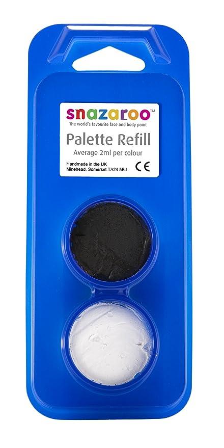 Snazaroo face paints : body art refill pack white and black [toy] (maquillaje/pintura de cara): Amazon.es: Belleza