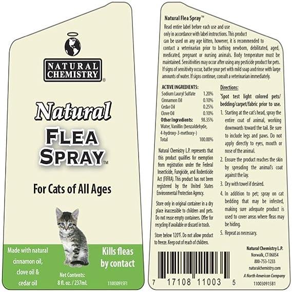 Natural Spray de pulgas para gatos, 8-Ounce: Amazon.es: Productos para mascotas