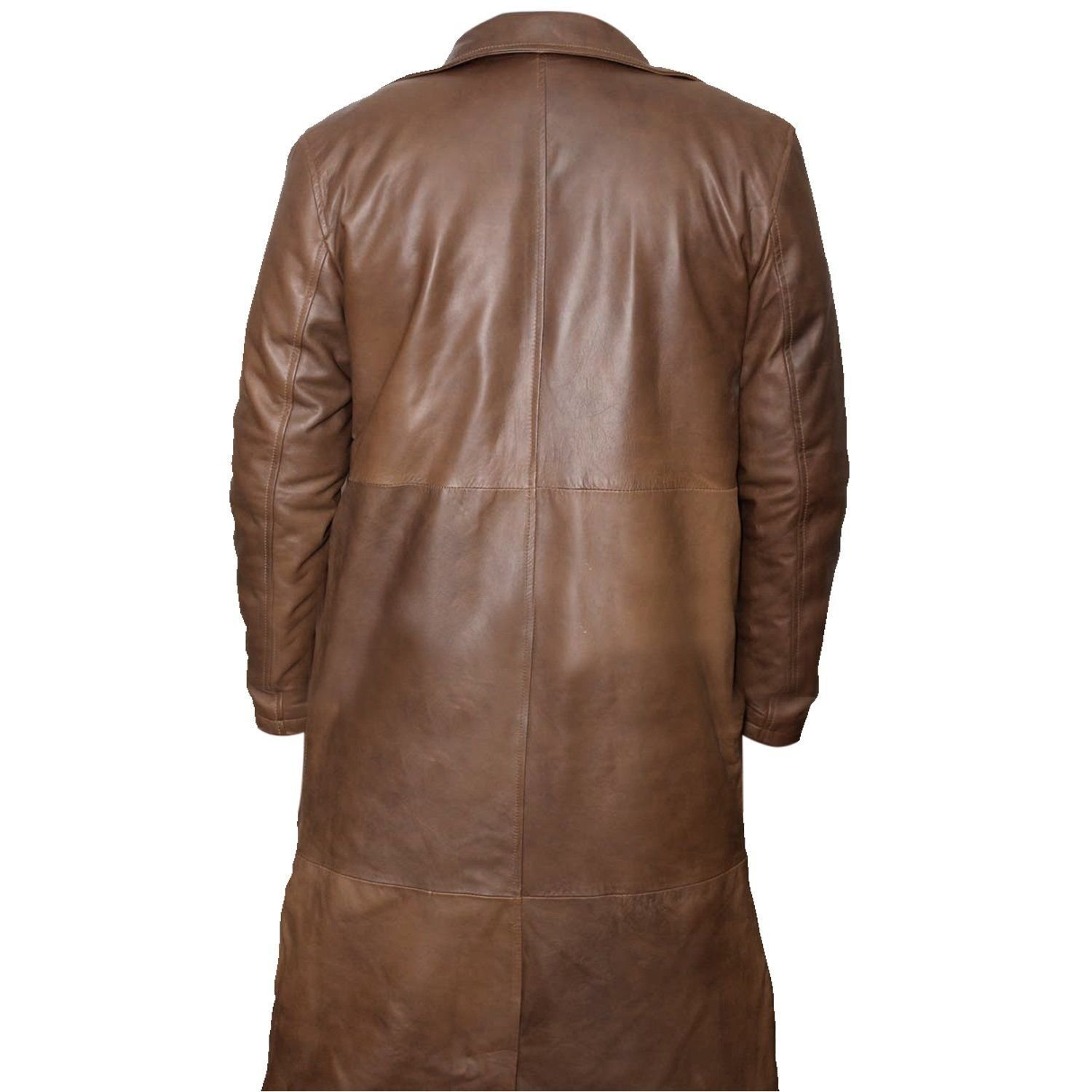 Premium Leather Products Batman V Superman Dawn Of Justice - Distressed Brown Leather Trench Coat (XXX-Large) by Premium Leather Products (Image #3)