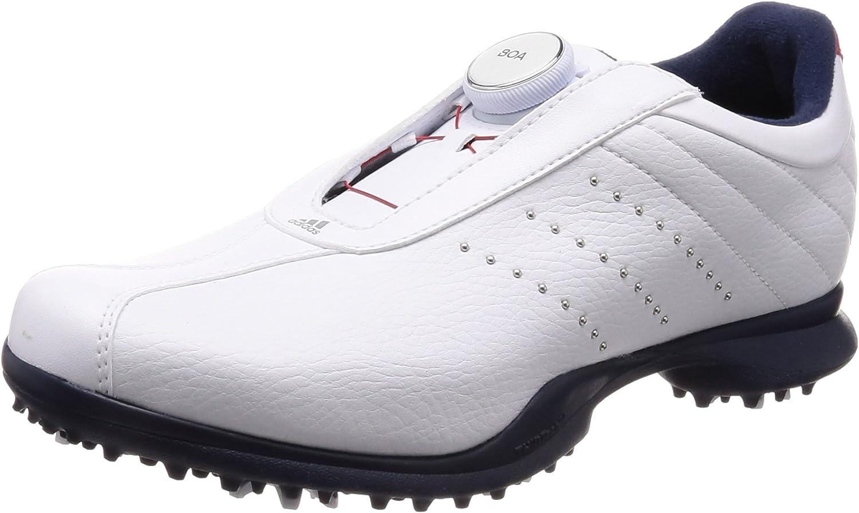[アディダスゴルフ] ゴルフシューズ ドライバーボア 2.0 レディース ホワイト/スカーレット/カレジエイトネイビー 25 cm