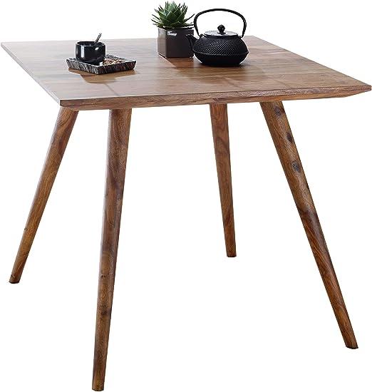 Finebuy Esszimmertisch 80 X 80 X 76 Cm Sheesham Rustikal Massiv Holz Design Landhaus Esstisch Tisch Fur Esszimmer Quadratisch 4 Personen Amazon De Kuche Haushalt