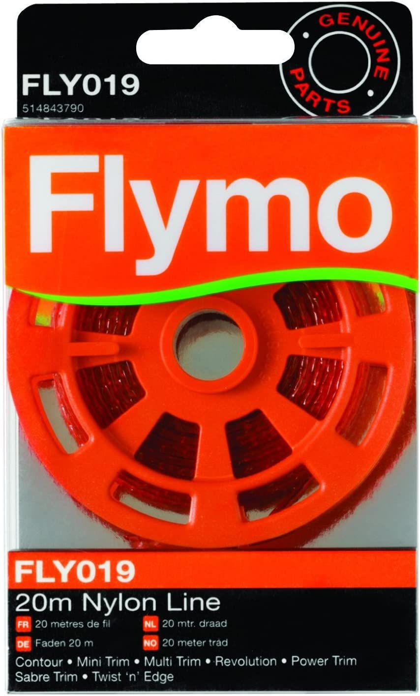 Flymo FLY019 - Hilo de nailon para cortacéspedes y cortasetos