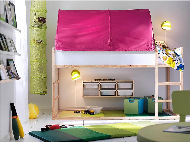 Amazon Com Ikea Kura Bed Tent Pink Furniture Decor