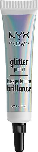 NYX Professional Makeup Prebase de purpurina Glitter Primer, Gel fijador para purpurina suelta, sombra de ojos y pigmentos, Larga duración