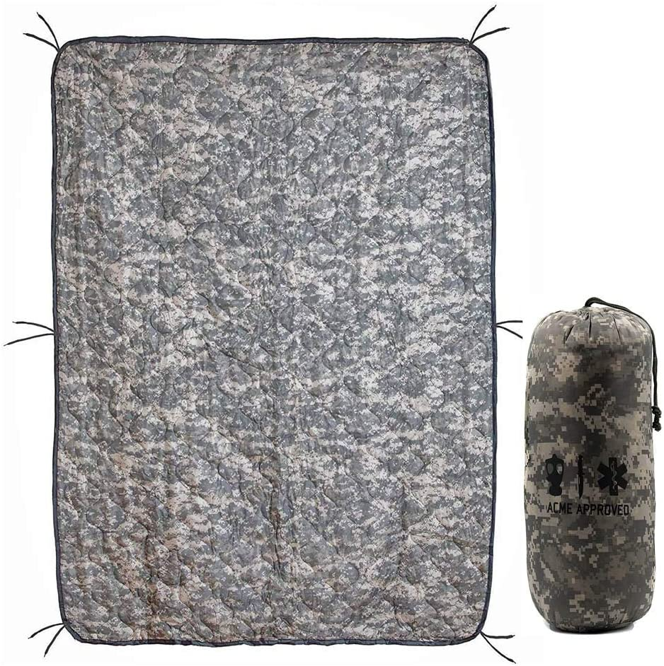 New Military style Wet Weather Rain Poncho Liner Woodland Camo Woobie Blanket