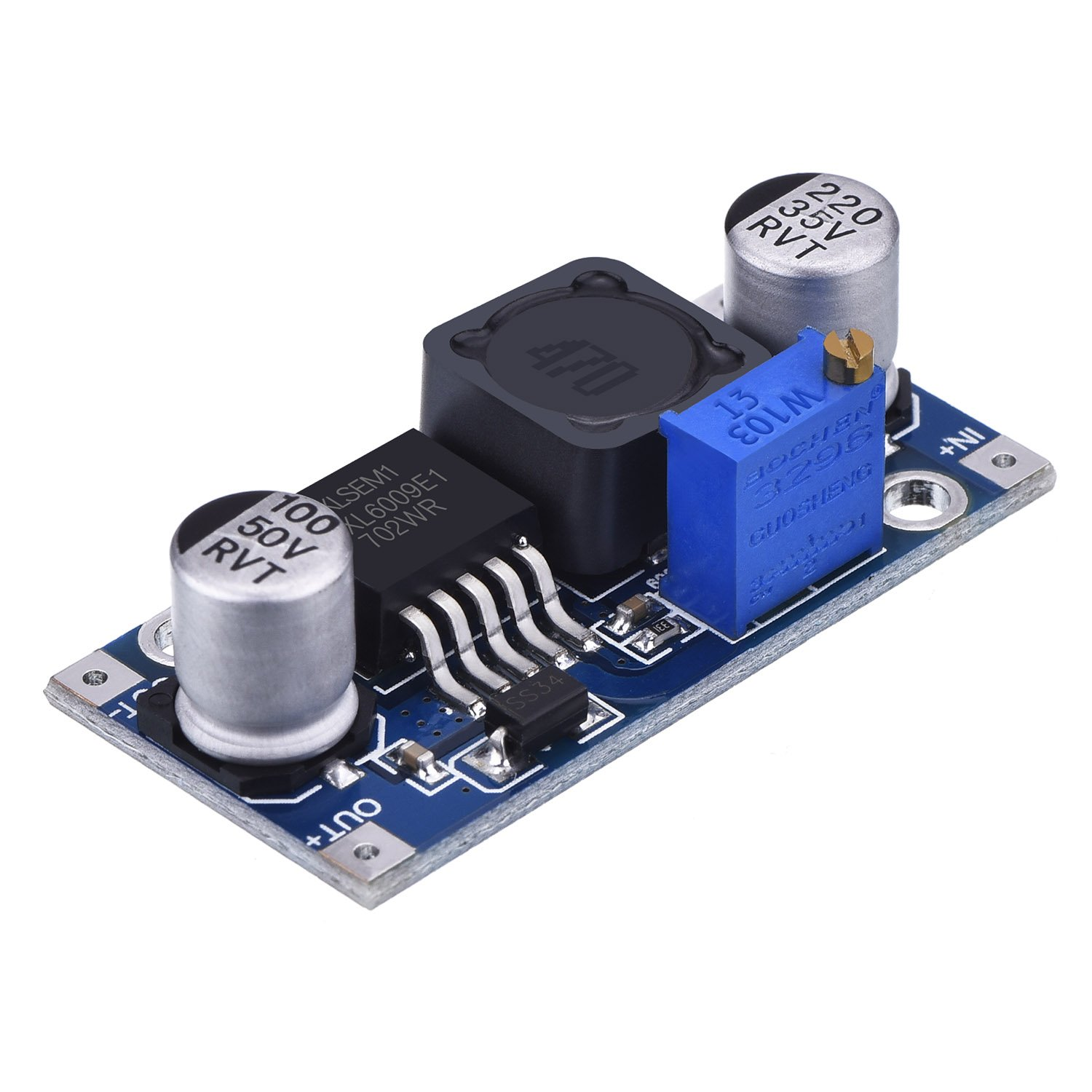 5 Pack Boost Converter Module Xl6009 Dc To 30 V 3v 24v Variable Power Supply Electronic Circuits Home Electronics