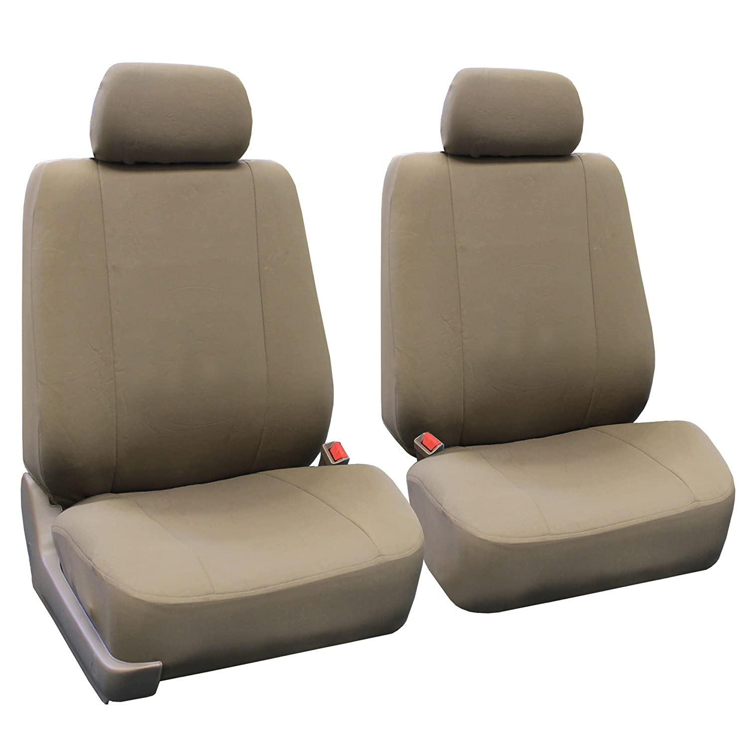 Amazon FH Group Universal Fit Multifunctional Flat Cloth Car Seat Cover Taupe Airbag Compatible And Split Bench FB052115 Automotive