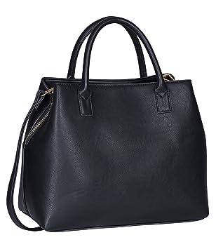 e8141178c9105 SIX Basic große Schwarze Damen Handtasche