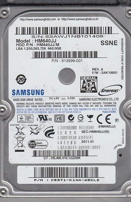 Amazon. Com: hm640jj, hm640jj/m, fw 2ak10001, ssne, samsung 640gb.