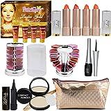 Adbeni Summer Vacation Combo Offer Makeup Set Orange Lipstick 4pc, Lipgloss 1pc, Kajal 1pc, Eyeliner 1pc, Compact 1pc (Assorted), Eyeshadow 1pc