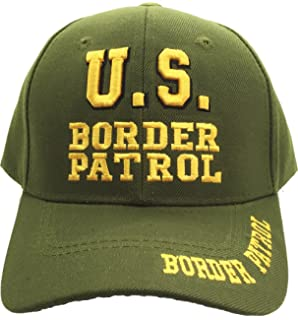 US Border Patrol Embroidered Law Enforcement USA Green Baseball Cap Hat Caps