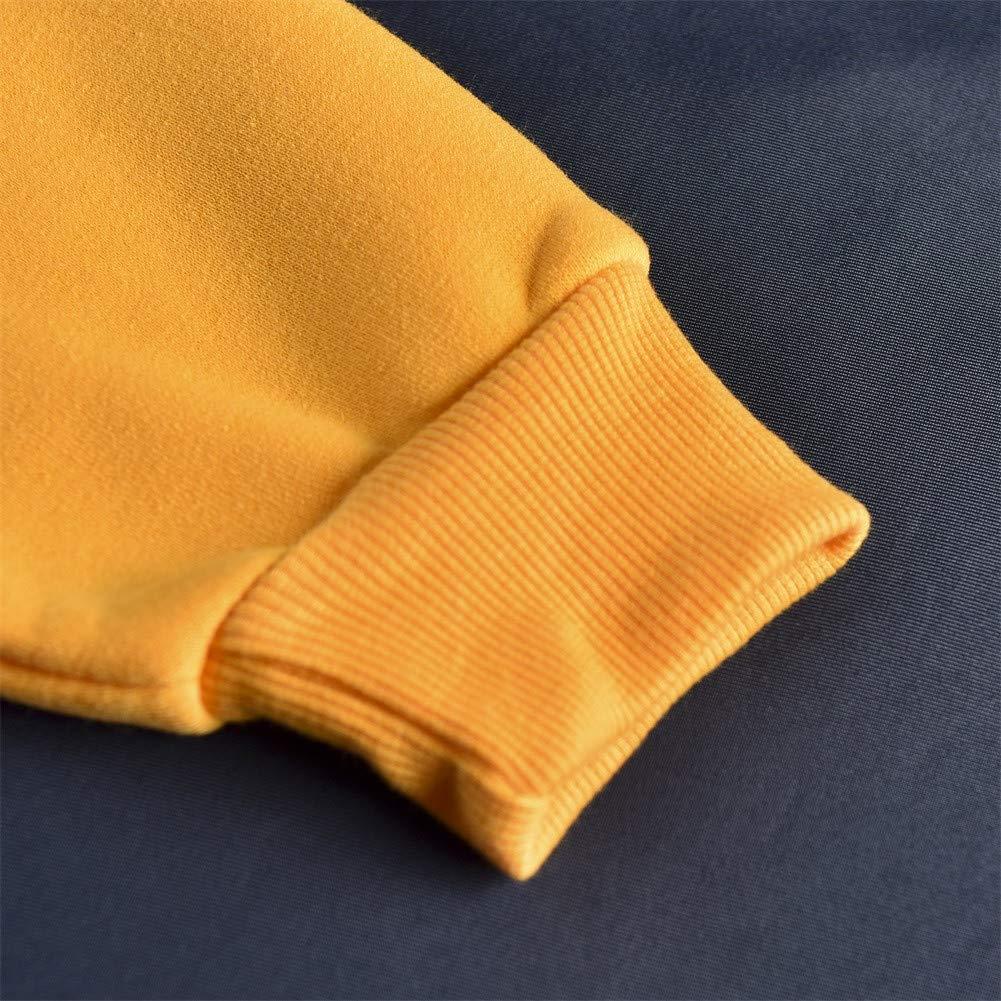 Yajiemen Women Printing Hooded Collar Long Sleeve Casual Cotton Blouse Sweatshirt