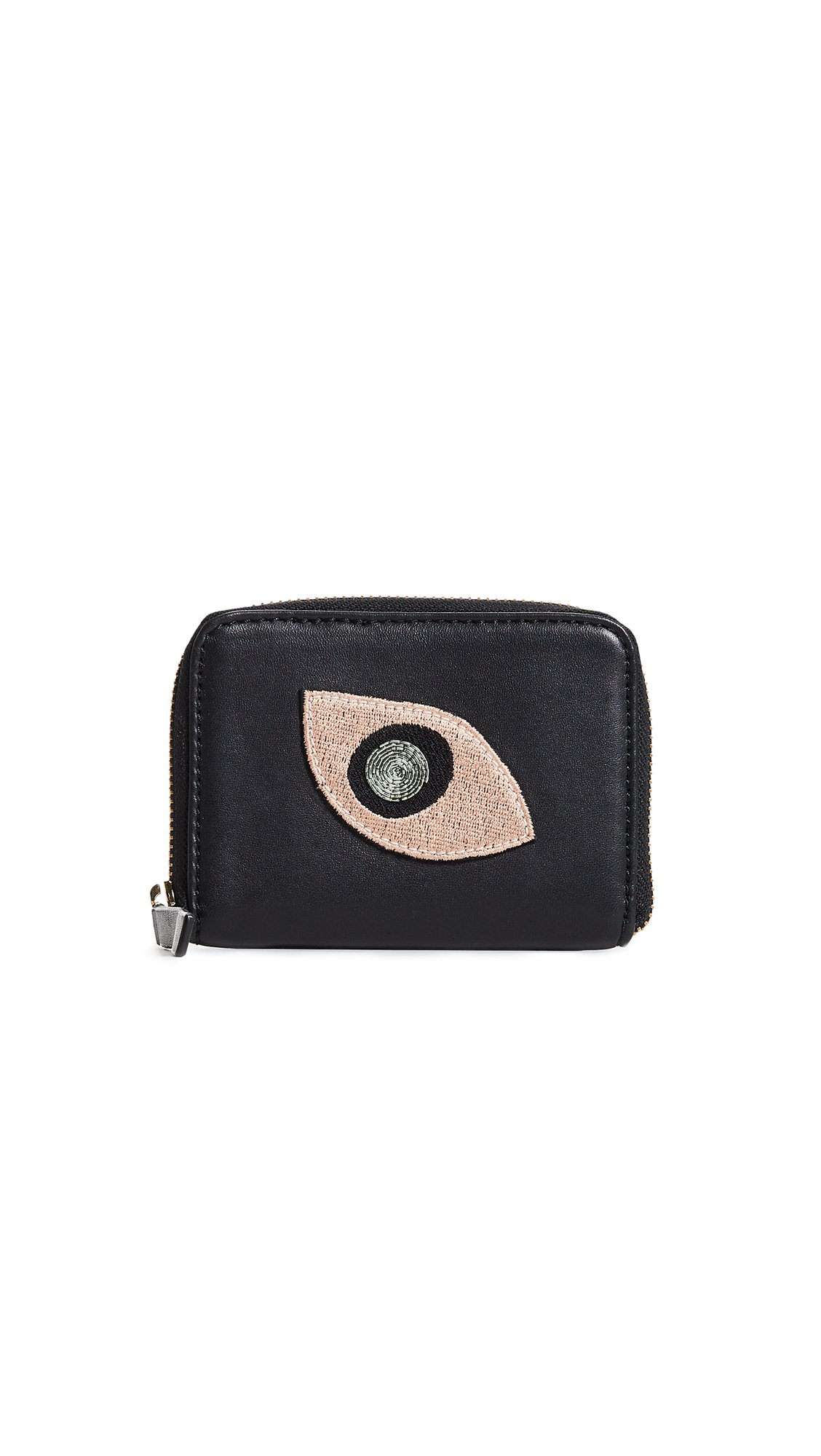 Lizzie Fortunato Women's Abstract Eye Zip Coin Purse, Black, One Size by Lizzie Fortunato