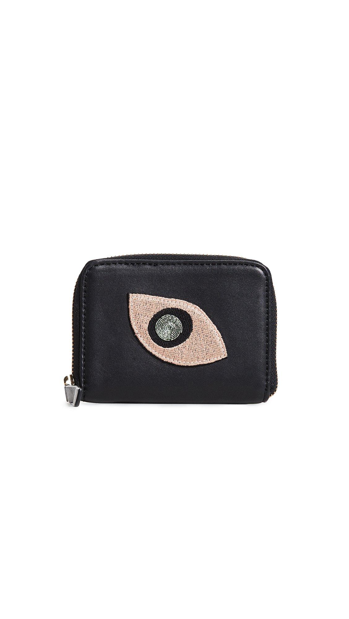 Lizzie Fortunato Women's Abstract Eye Zip Coin Purse, Black, One Size