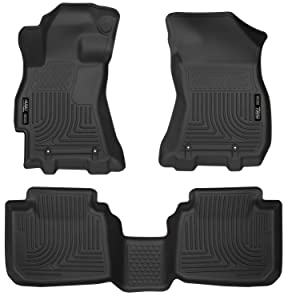 Husky Liners 99671 Black Fits 2015-19 Subaru Legacy, 2015-19 Subaru Outback Weatherbeater Front & 2nd Seat Floor Liners