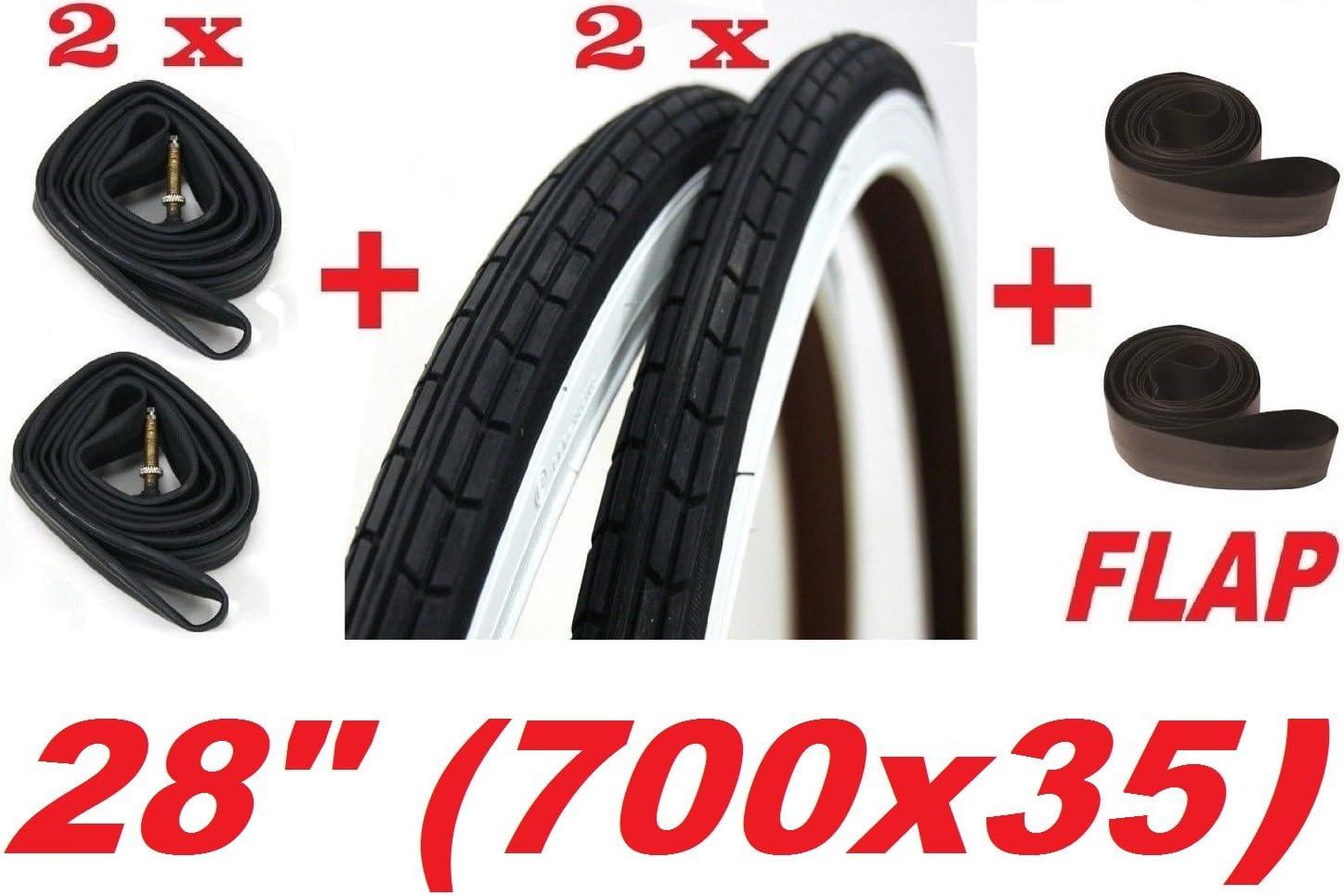 2 neumáticos + 2 cámaras de aire + antipinchazos, 28 x 1 5/8 - 1 3 ...