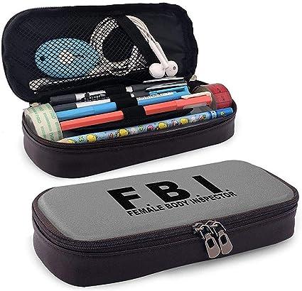 Estuche de lápices de cuero del cuerpo femenino del FBI Estuche de lápices Estuche para bolsos para niños y adultos Gilrs: Amazon.es: Oficina y papelería