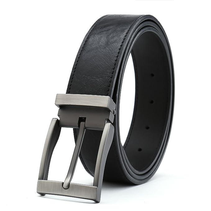 Amazon.com: gurscour de los hombres cinturones Vestido ...