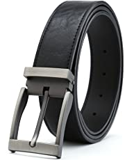 "Gurscour Men's Belts Dress Leather Belt for Men 1.4""(35mm) Width"