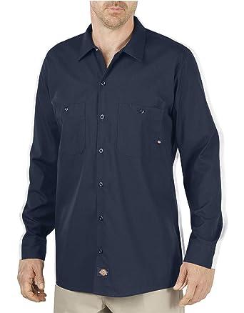 Dickies LI535 Camisa de trabajo manga larga, para uso industrial, azul marino, 120, 5 gramos - Azul -: Amazon.es: Ropa y accesorios