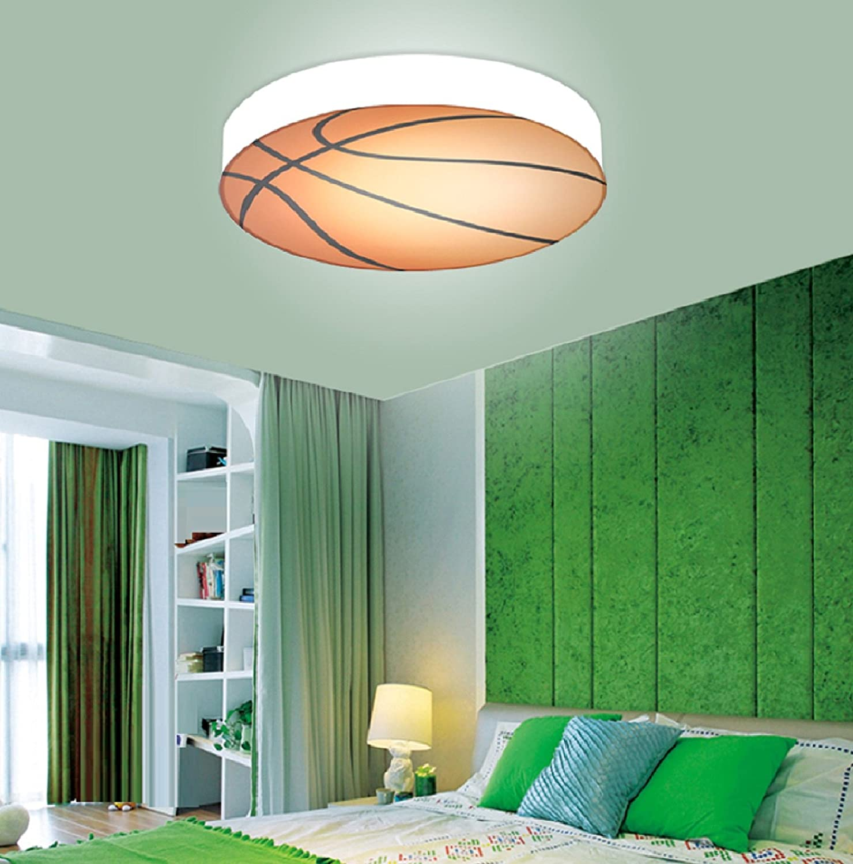 luce bianca Waineg Stanza dei bambini Luce di soffitto di pallacanestro Camera da letto creativa Soggiorno Camera di Boy /& Girl Decorazione di soffitto a Led 56cm Diametro