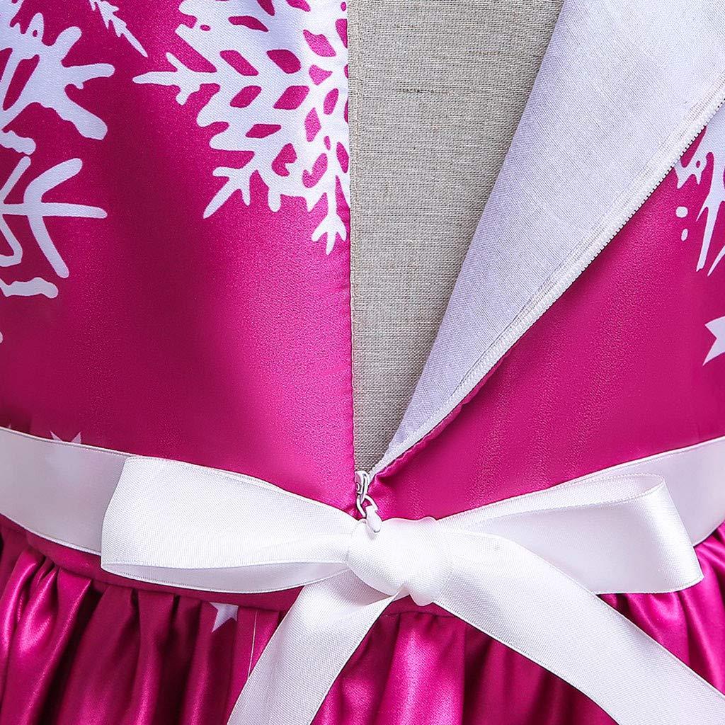 K-Youth Disfraces de Navidad Ni/ñas Pap/á Noel Reno Disfraz Vestido de Fiesta Chica Vestido Princesa Ni/ña Adolescente Chica Ropa de Ni/ña Bautizo Vestidos de Noche Cumplea/ños