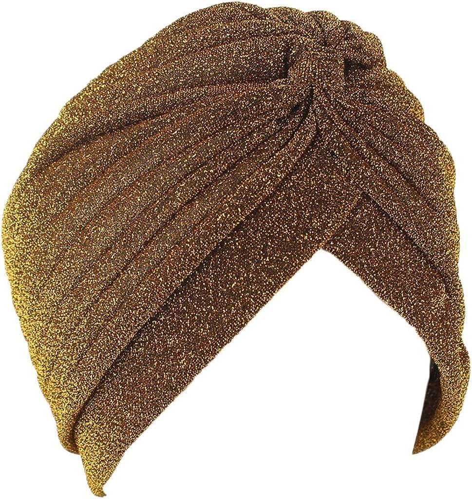 Chemo Krebs Cap Chemotherapie Lunji Funkeln Frauen Muslimische Kopftuch Turban-H/üte Turbanm/ütze Kopfbedeckung Schlafm/ütze f/ür Haarverlust
