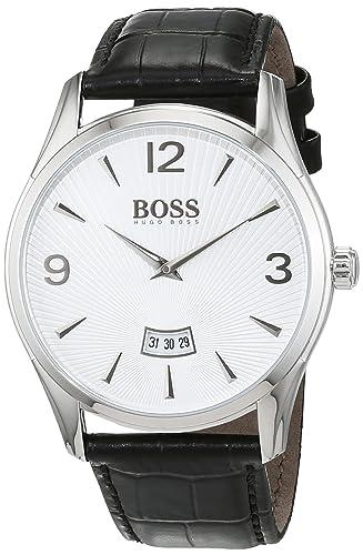 Hugo Boss- Reloj análogico de cuarzo con correa de cuero para hombre - 1513449: Hugo Boss: Amazon.es: Relojes