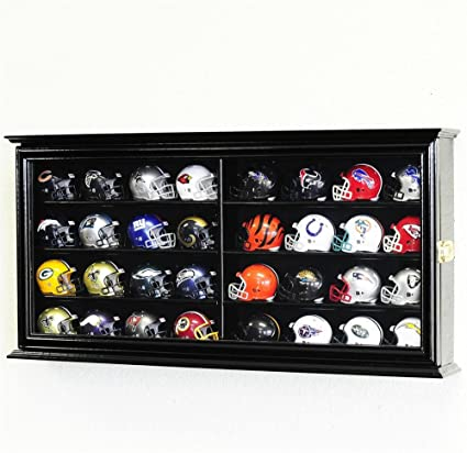 New Denver Broncos Football Helmet Display Case Black Sport Molding Uv Nfl Display Cases Sports Mem, Cards & Fan Shop