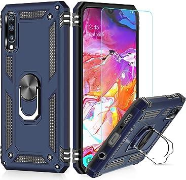 LeYi Funda Samsung Galaxy A70 con [2-Unidades] Cristal Vidrio ...
