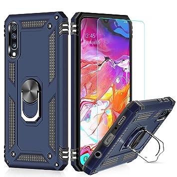 LeYi Funda Samsung Galaxy A50 Armor Carcasa con 360 Anillo iman soporte hard PC y silicona TPU bumper antigolpes Fundas Carcasas Case para movil ...