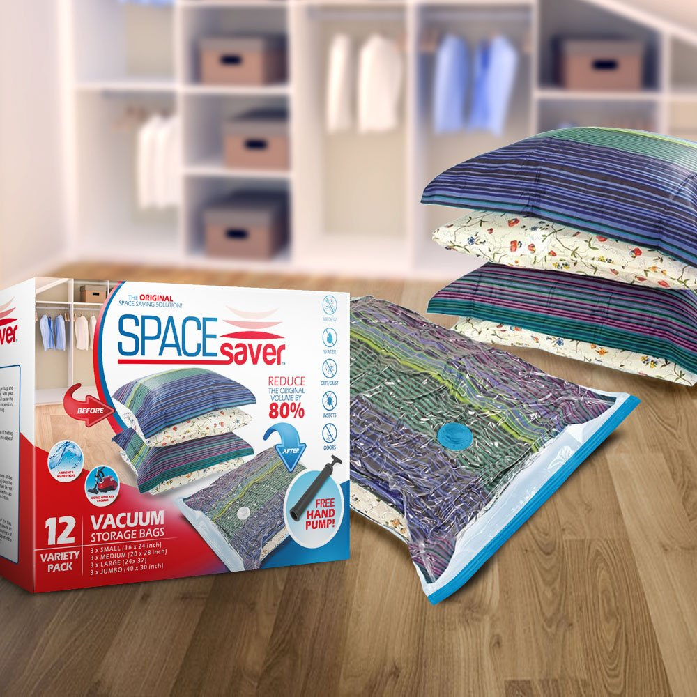Nice Amazon.com: SpaceSaver Premium Vacuum Storage Bags (Lifetime Replacement  Guarantee) Variety Pack (3 X Small, Medium, Large U0026 Jumbo) 80% More Storage  Than ...