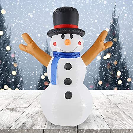 4ft Inflatable Christmas Snowman Holiday Yard Outdoor Rotating Light Decoration