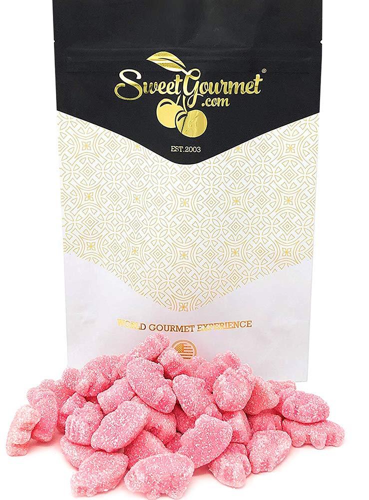 Gustaf's Mini Gummy Pigs | Sour Strawberry Flavored Piglets | Candy Bulk |  1 Pound