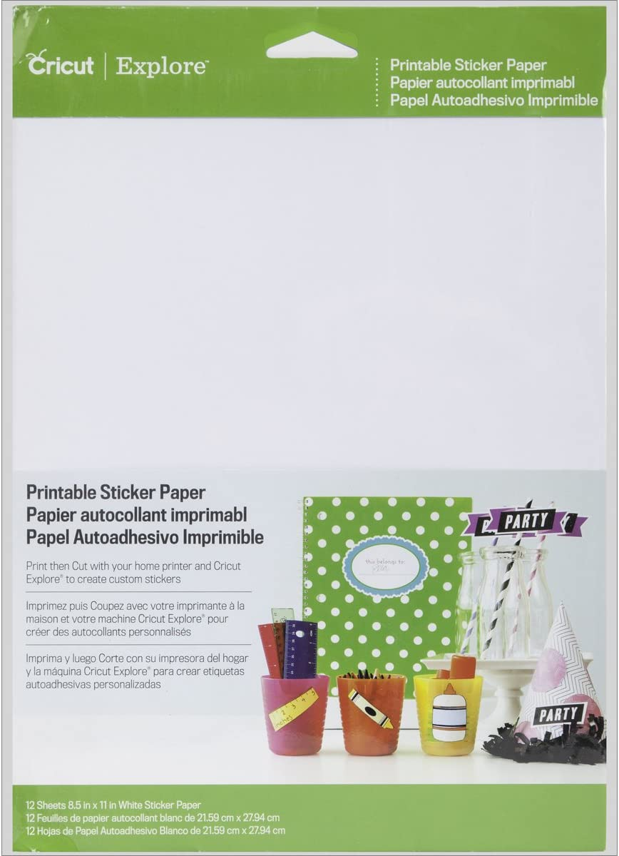 Cricut Printable Sticker Paper for Scrapbooking