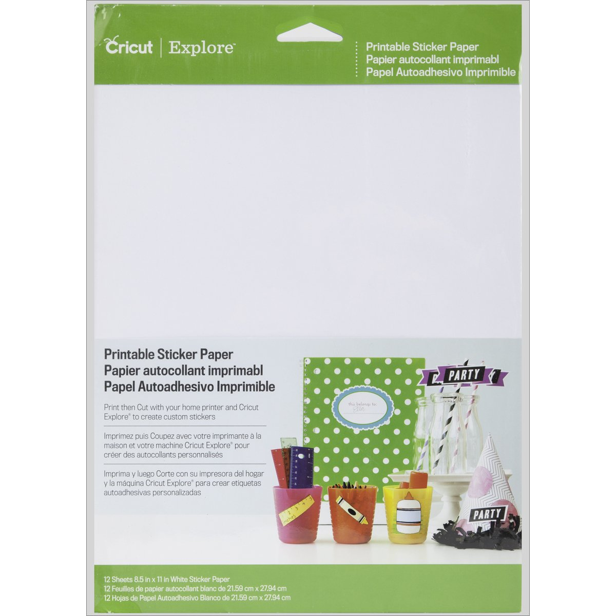 Amazon com cricut printable sticker paper for scrapbooking