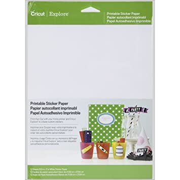 Amazon Cricut Printable Sticker Paper For Scrapbooking