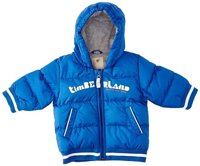 Timberland - Abrigo de plumas plumas para niño, color azul (royal blue),