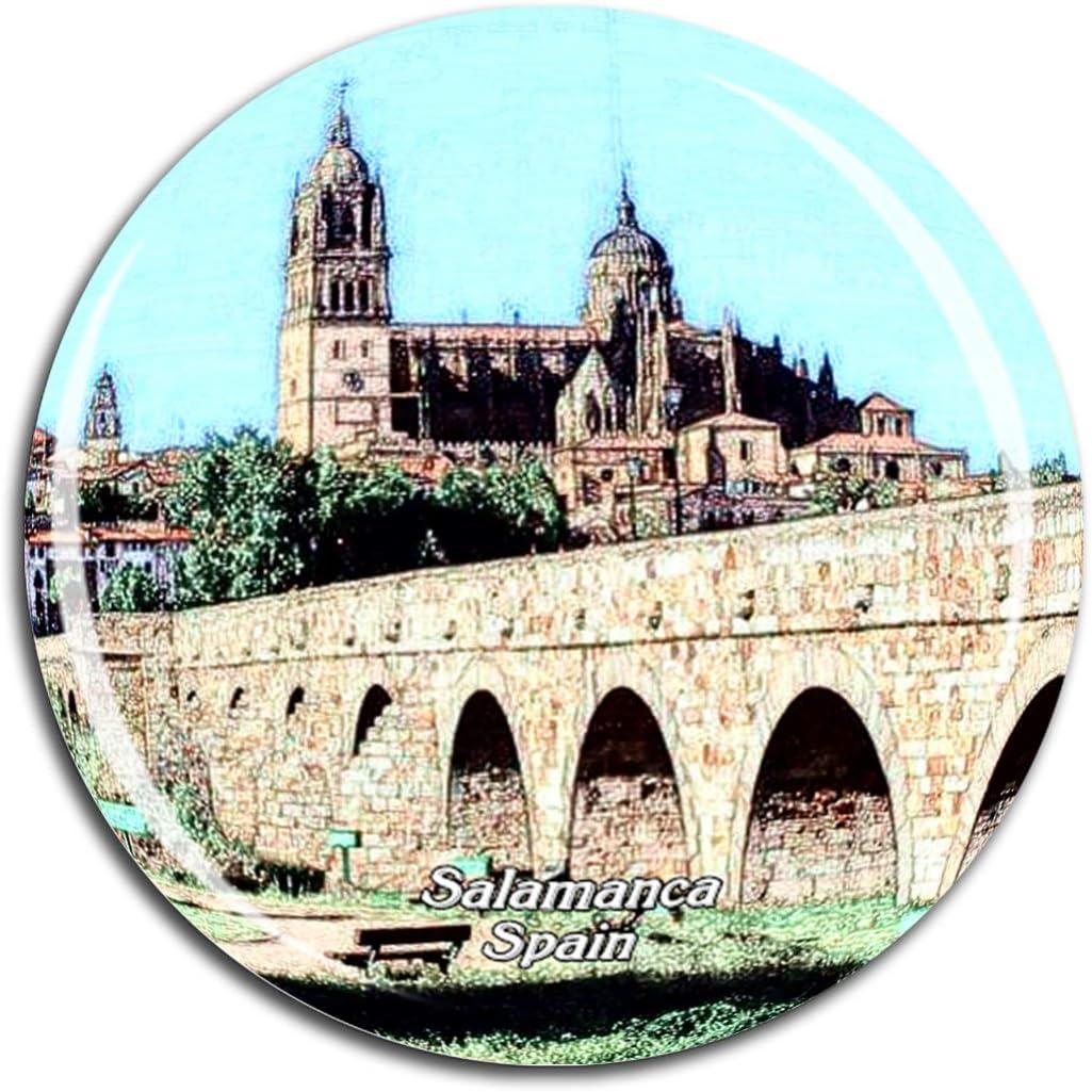 Weekino Puente Romano de españa Catedral de Salamanca Imán de Nevera 3D de Cristal de Turismo de la Ciudad de Viaje Recuerdo de la Colección de Regalo Fuerte Etiqueta Engomada del refrigerador: