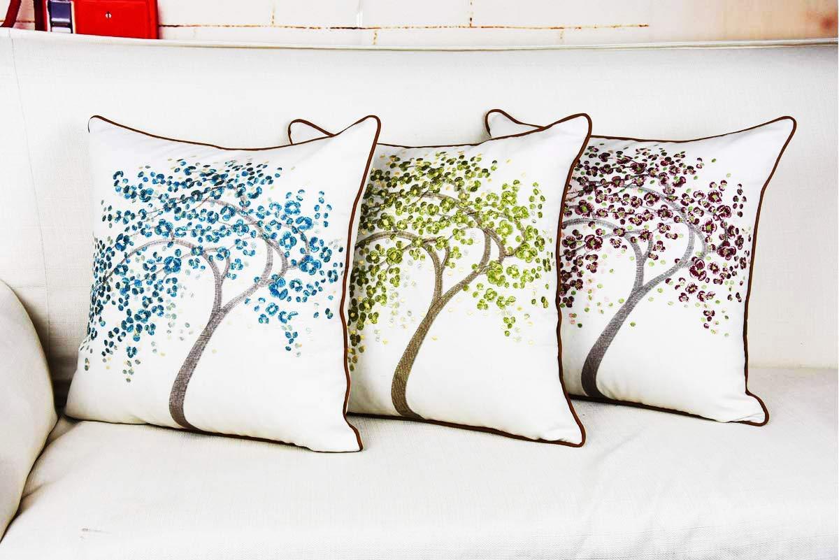Amazon.com: Fundas de almohada cuadradas de terciopelo suave ...