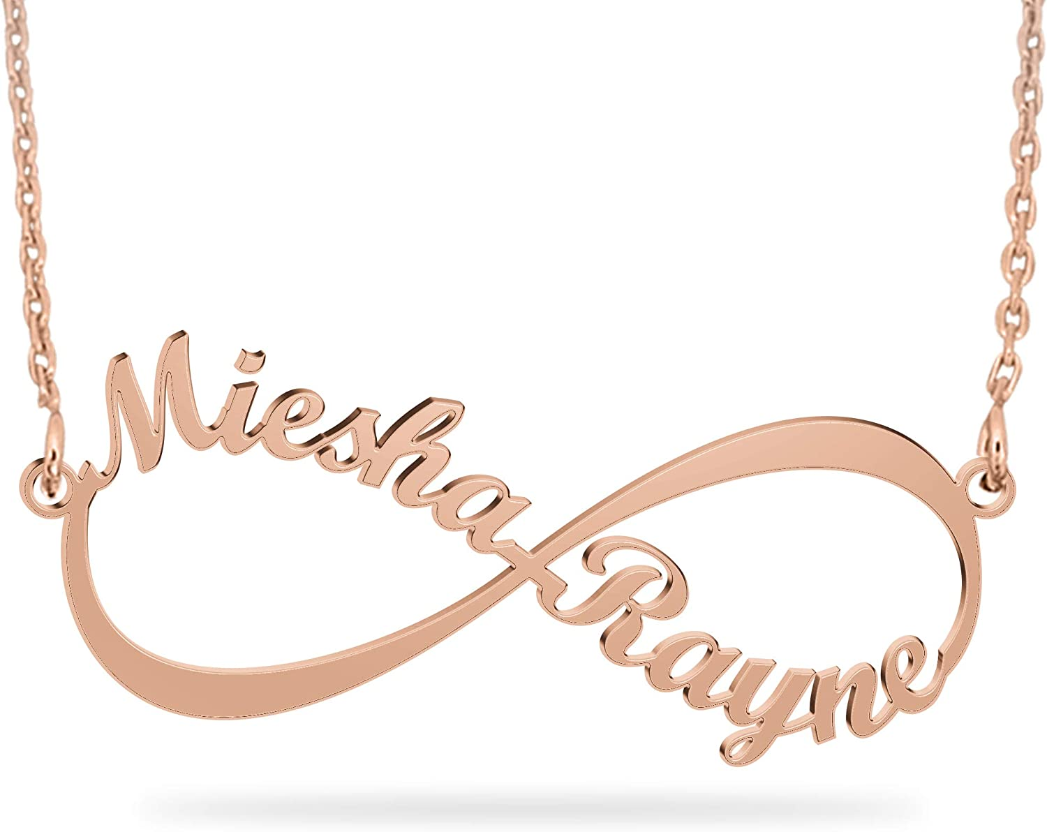 Christmas Anniversary Bridal Pendant Wedding Personalized Gifts For Her IMOGEN Gold Plated Name Necklace /& Name Bracelet Gift Set