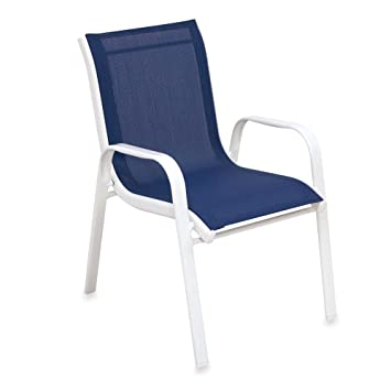 Astounding Amazon Com Kids Stacking Patio Chair In Blue Baby Onthecornerstone Fun Painted Chair Ideas Images Onthecornerstoneorg