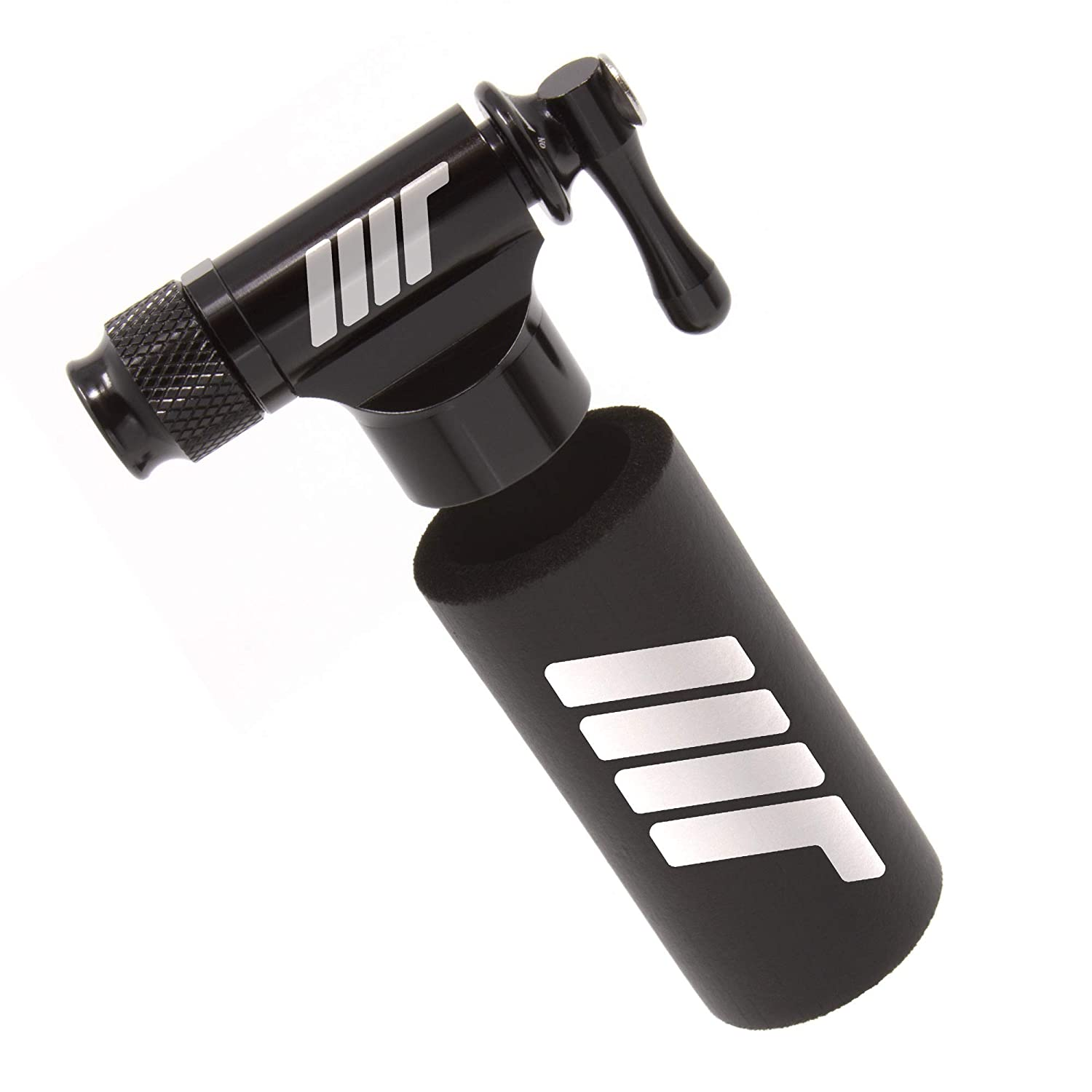 Manual Transport CO2 Inflator - Quick & Easy - Presta and Schrader Valve Compatible - Bicycle Tire Pump for Road and Mountain Bikes - Insulated Sleeve - No CO2 Cartridges Included