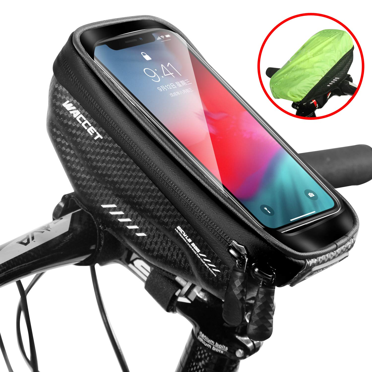 Phone Holder Mount For Bicycle Top Tube//Handlebars